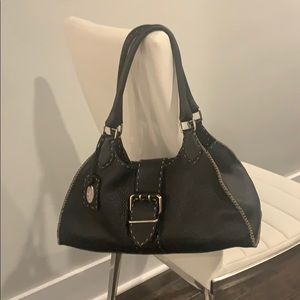 Fendi Selleria Black Hobo Handbag